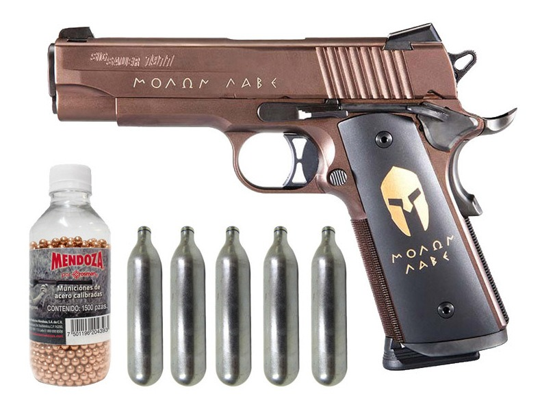 Pistola Spartan Full Metal + Co2 + Municiones 1500 Sig Sauer