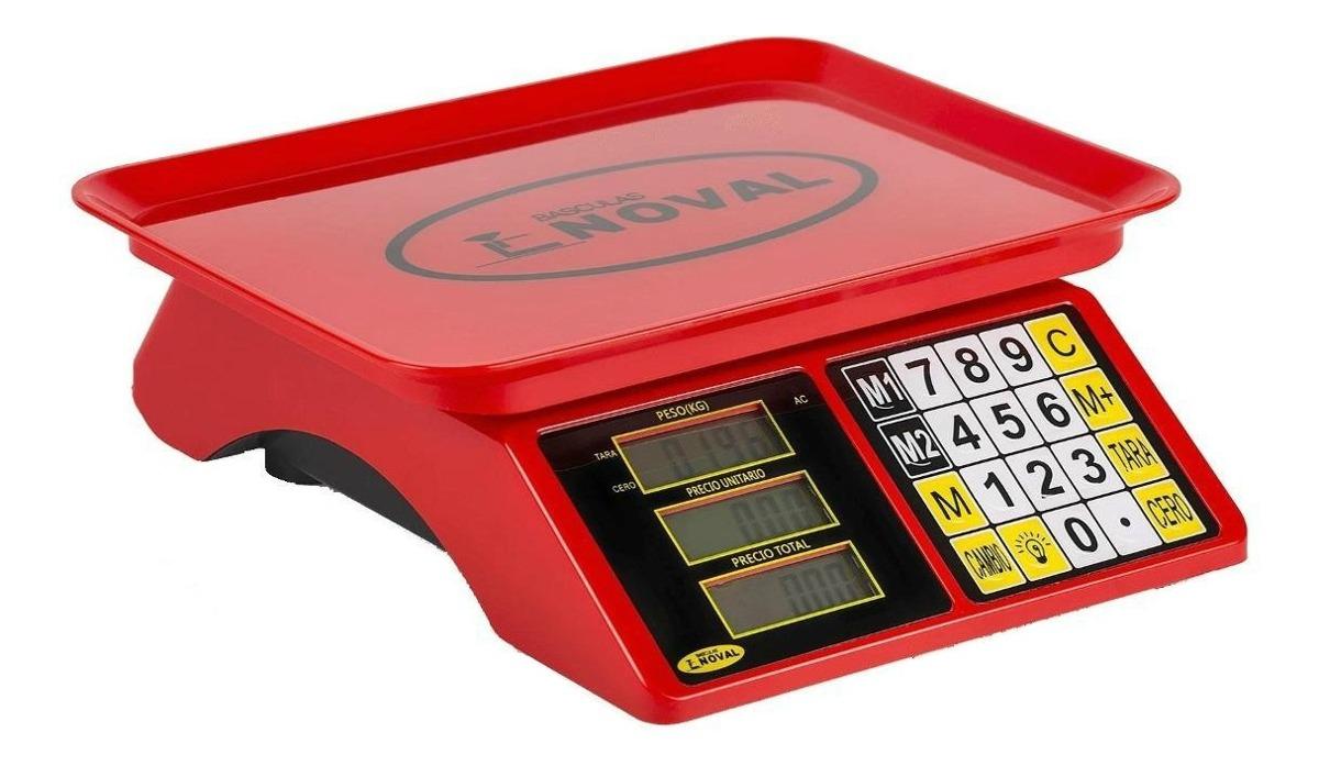 Báscula Comercial Digital Noval Eco-15tn 20 Kg 110v/220v (bivolt) Rojo