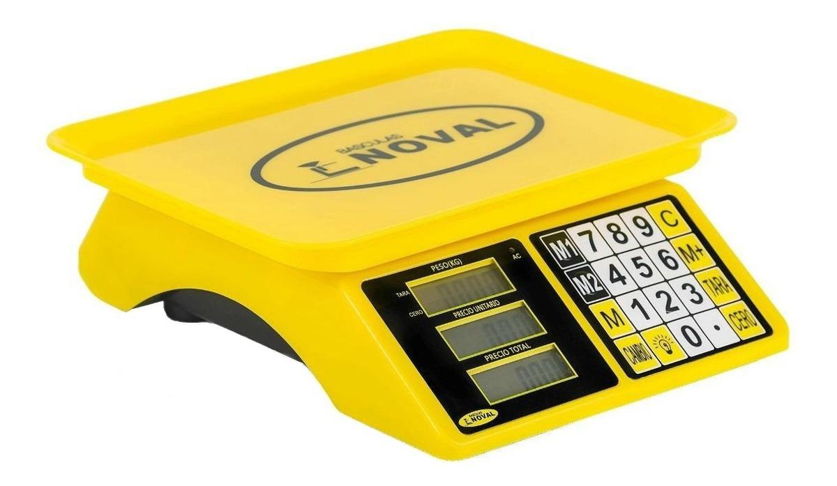 Báscula Comercial Digital Noval Eco-15tn 20 Kg 110v/220v (bivolt) Amarillo