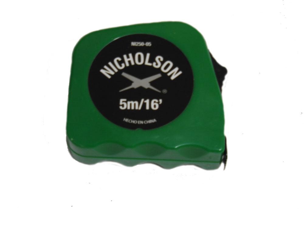 Flexómetro de 5 m. color Verde Mod. NI250-05 Marca Nicholson