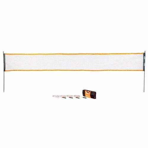 Juego De Badminton Con 4 Raquetas Red Mochila Coleman
