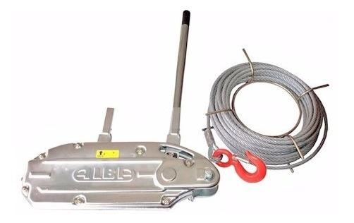 Tirfor Elemento Traccion Carga 3200 Kg Con Cable 50 M Alba