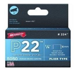 Grapa Para P22 1/4 Pulgadas Con 5050 Piezas Arrow