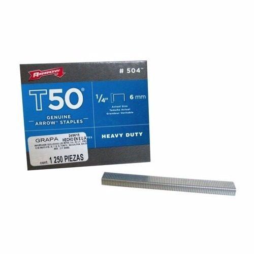 Grapa Para Uso Medio Y Pesado 1/4 Pulgadas Con 1250 P. Arrow