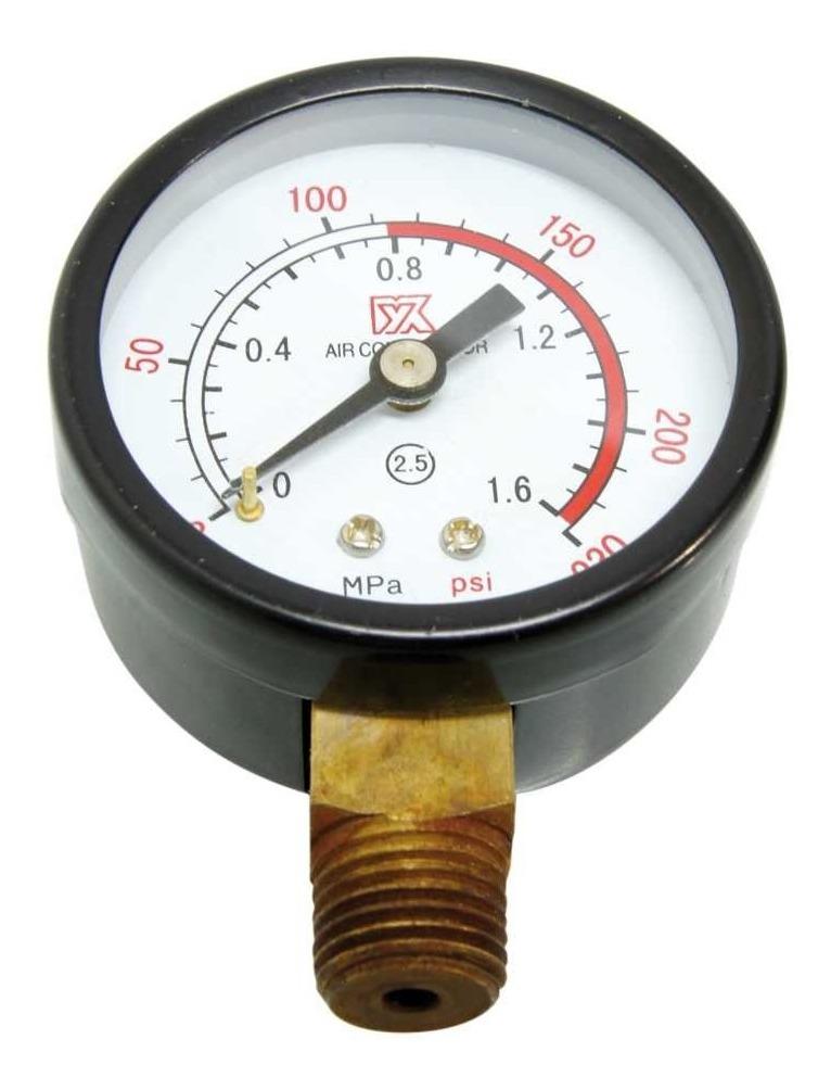 Manómetro 0-180 Psi Caratula 2  Conexión 1/4  Vertical Goni