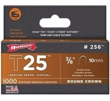 Grapa Para T2025 3/8 Pulgadas Con 1000 Piezas Redonda Arrow
