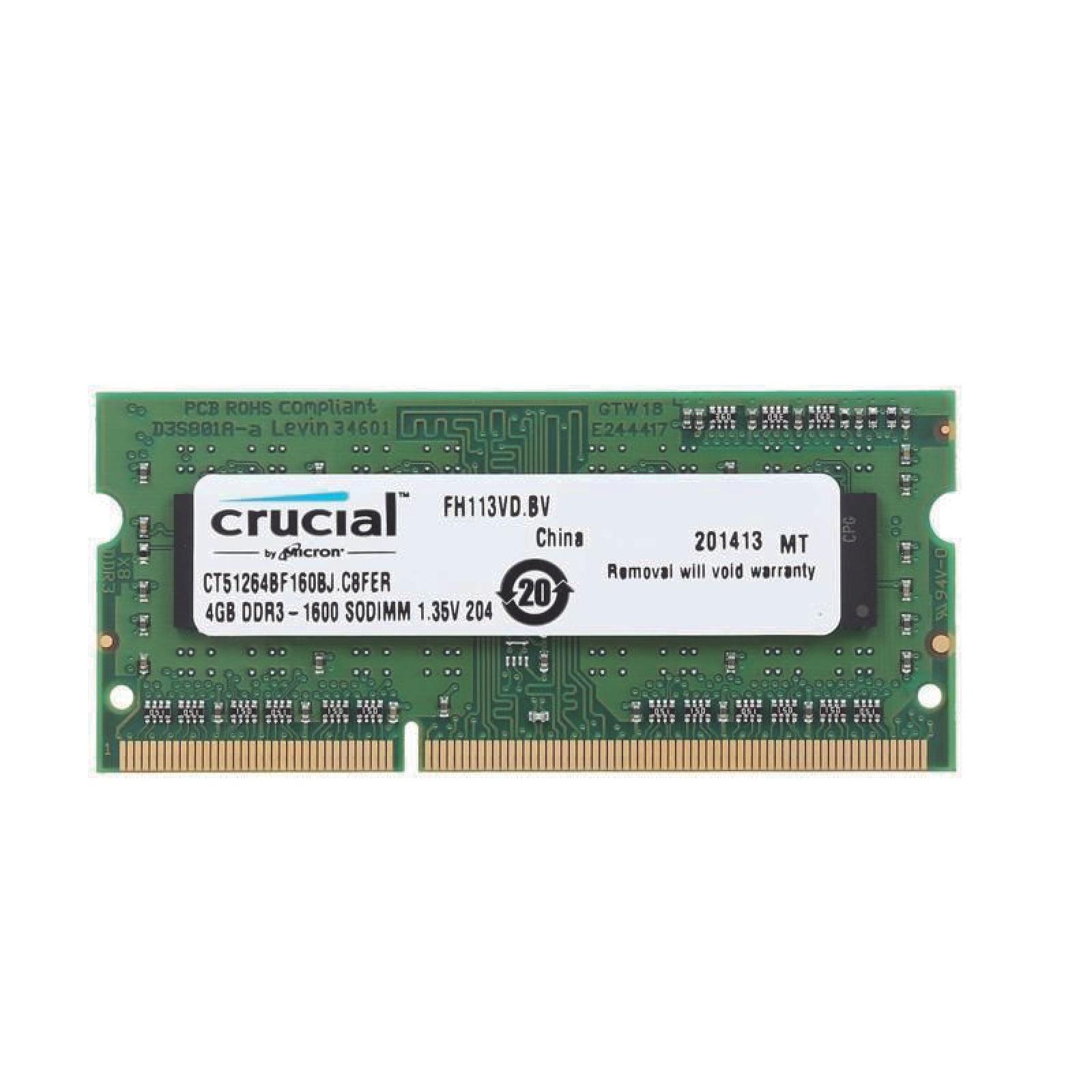 Soddr3 4GB 1600 Mhz Crucial