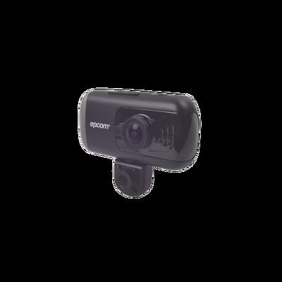 Grabador móvil para instalación en parabrisas de doble cámara