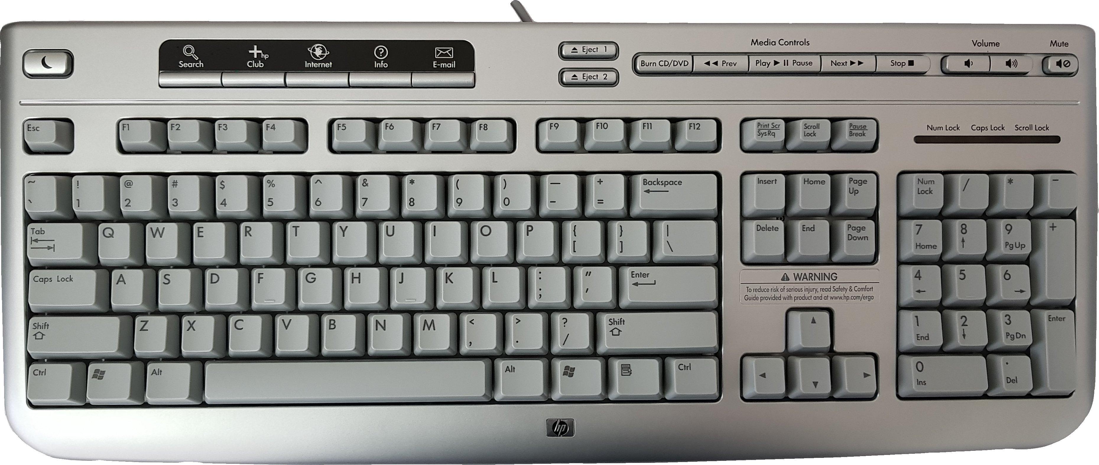 Teclado HP PS2