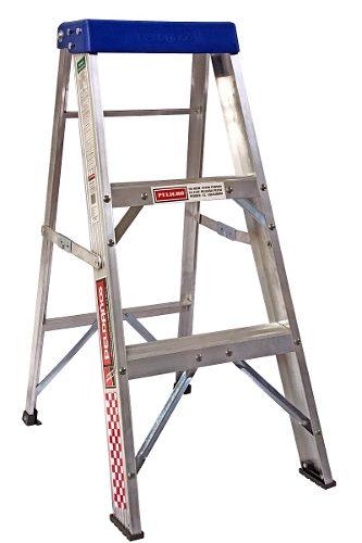 Escalera Tijera Aluminio 2 Peldaños Tipo Iii 706716 Peldaños