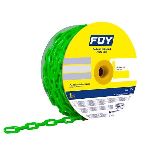 Cadena Plástica 3mm 1/8  50m Color Verde 143432 Foy