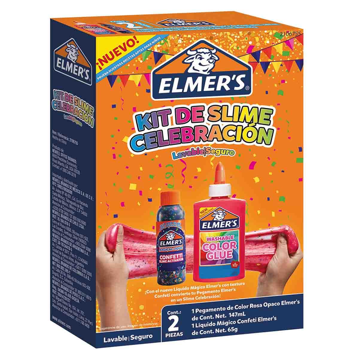 Kit Set Juego Slime Celebracion Rosa 2 Piezas Niñas Elmers