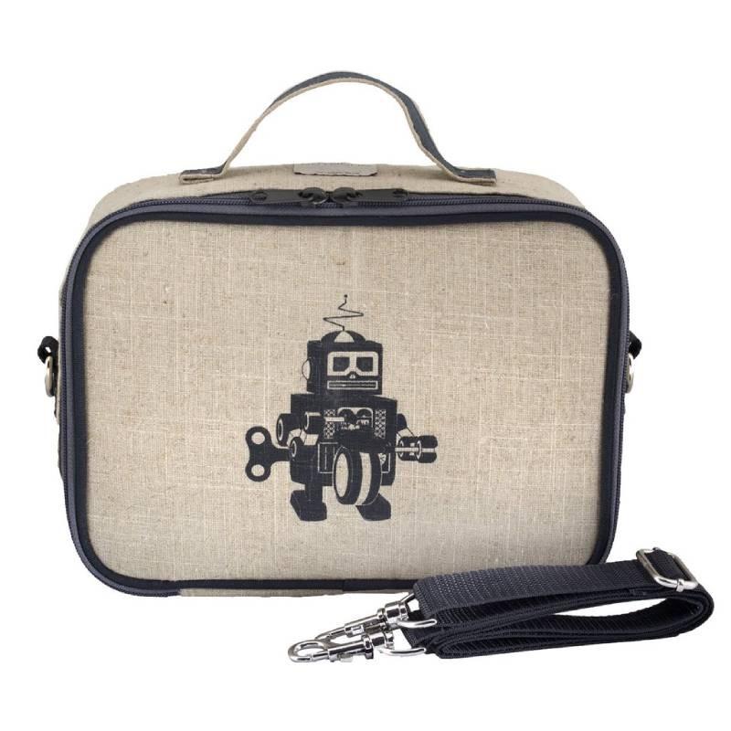 Lonchera Escolar Para Niños Robot Gris Soyoung