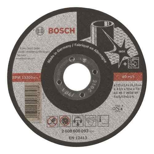 Disco Abrasivo Corte Exp Inox Cto Recto 4-1/2 X5/64 Ud Bosch