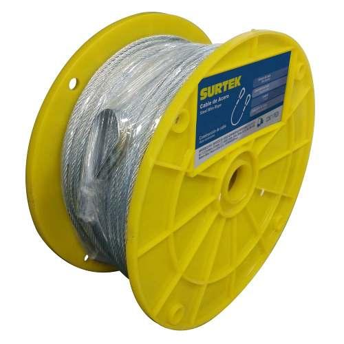 Cable Acero Pvc 7x19 1/8 X76m Cap214 Surtek