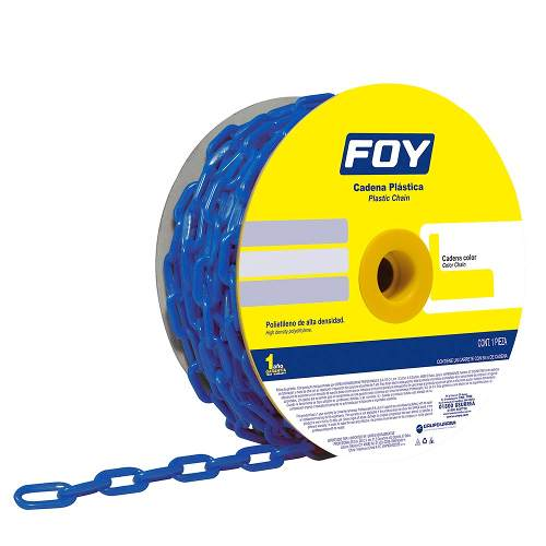 Cadena Plástica 6mm 1/4  25m Color Azul 143417 Foy