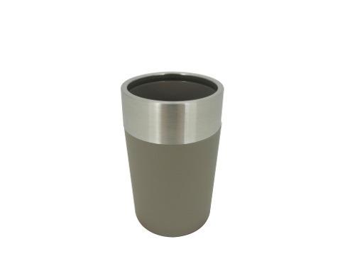Vaso Acero Mate Con Pvc Gris Ba-433507 Namaro Design