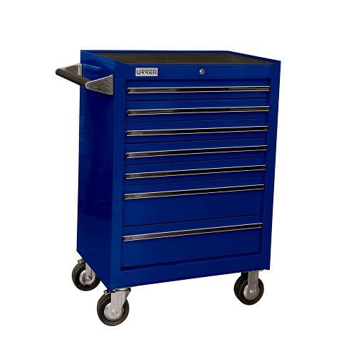 Gabinete Uso Extra Pesado 7 Gavetas 27  Color Azul X27m7a