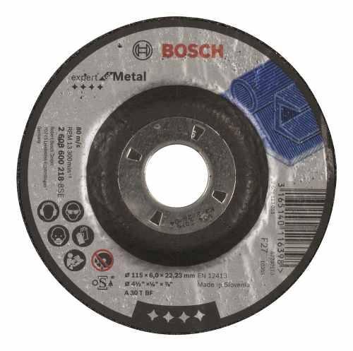 Disco Abrasivo Desbaste Exp Metal Cto Dep 4-1/2 X1/4  Bosch