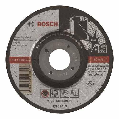 Disco Abrasivo Desbaste Exp Inox Cto Dep 4-1/2 X1/4  Bosch
