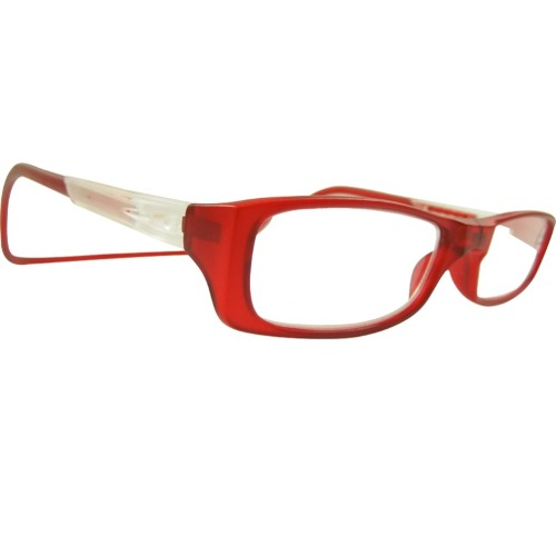 Anteojo Lectura Clik Comfort 2.5 Rojo Gris Transparente Obi