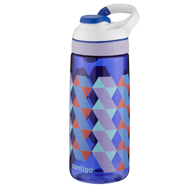 Botella Escolar Para Niños 20 Oz Autoseal Triangulos Contigo