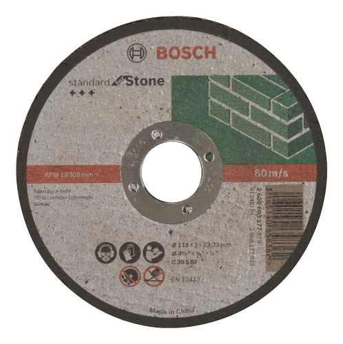 Disco Abrasivo Corte Std Piedra Cto Recto 4-1/2 X3/32  Bosch