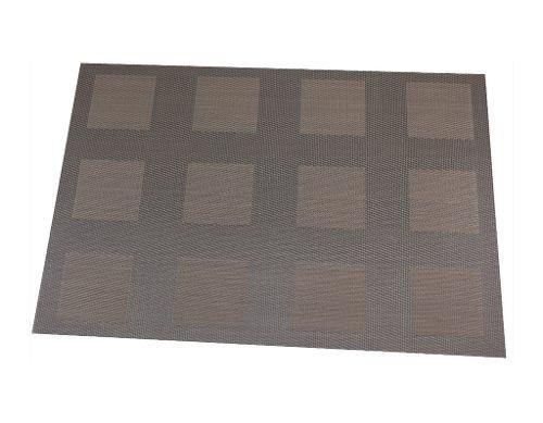 Mantel Individual Textiline Cuadros Chocolate SM-430391 Namaro Design