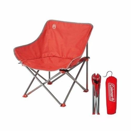Silla Kickback Roja Patas De Acero 91 Kg 2000020301 Coleman