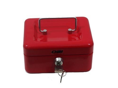 Caja De Dinero Sencilla 20 Cm Color Rojo O Azul Para Monedas