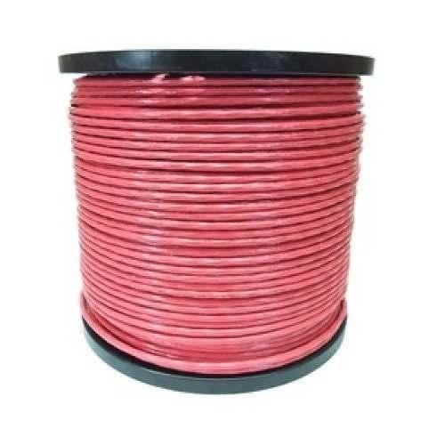 Cable Acero Recubrimiento Pvc 7x7 3/16-1/4  Rollo 150m Rojo