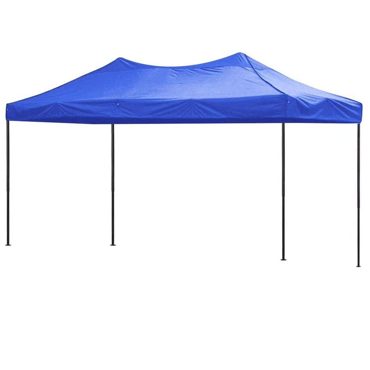 Toldo Carpa Impermeable Plegable Acero 3X4.5 M Azul Kingsman