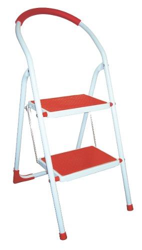 Escalera De Acero 2 Peldaños Rojo 706799 Peldaños