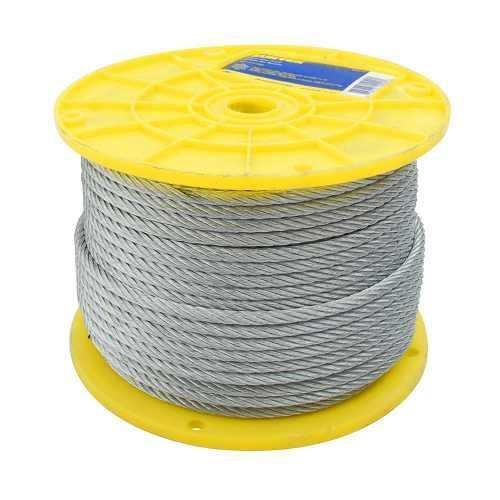 Cable De Acero 3/32  X 75m Contrucción De 7 X 7 Ca3/32r Surt