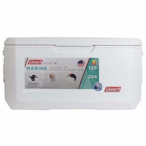 Hielera Blanca Marina Xtreme 120 Qt Para 204 Latas Coleman