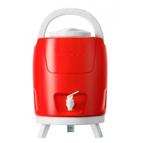 Termo Insulado 9 Lts Rojo Para Frio Y Caliente Con Soportes