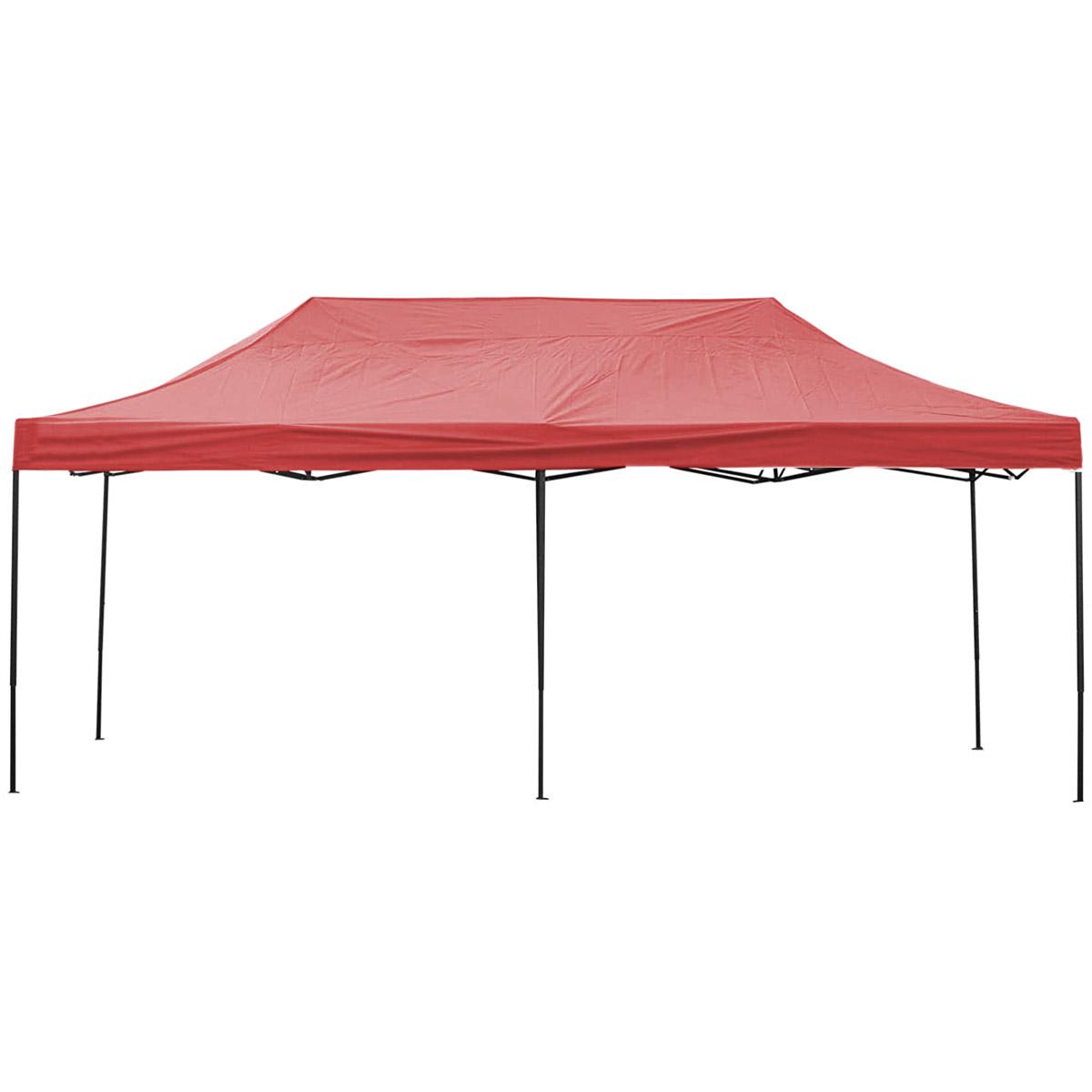 Toldo Carpa Impermeable Plegable De Acero Rojo 3x6m Kingsman