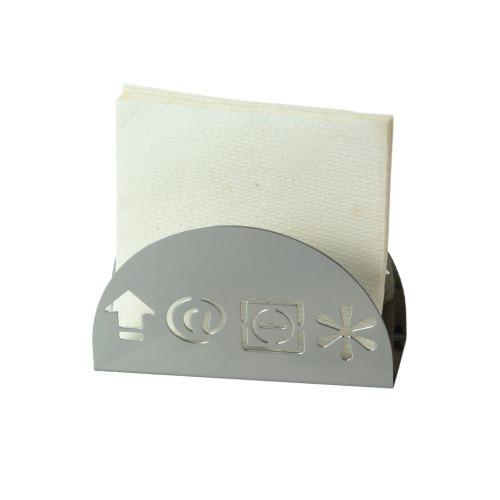 Servilletero Con Forma De Simbolos En Acero Inoxidable Sm-40