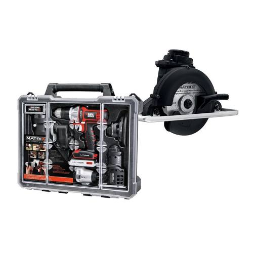 Sierra Corte Madera+taladro 6 En 1 Matrix Black And Decker