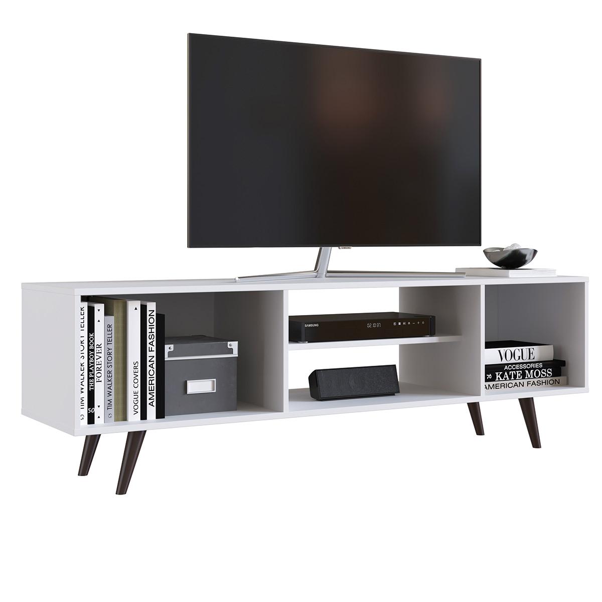 Mesa Modular Rack 2 Repisas 2 Puertas 150cm TV Pantalla Sala