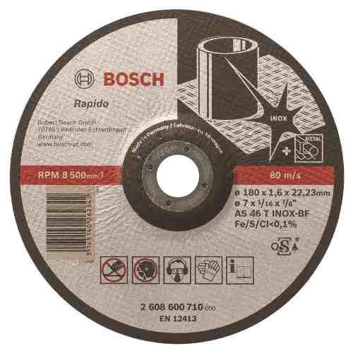 Disco Abrasivo Corte Exp Inox Cto Deprimido 7 X1/16 Ud Bosch