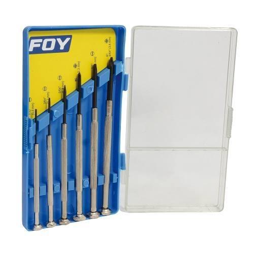 Juego De 6 Destornilladores De Precisión Combinado Foy 14161