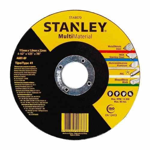 Set 10 Discos Abrasivos Esmeril 4 1/2 Tipo 1 Stanley