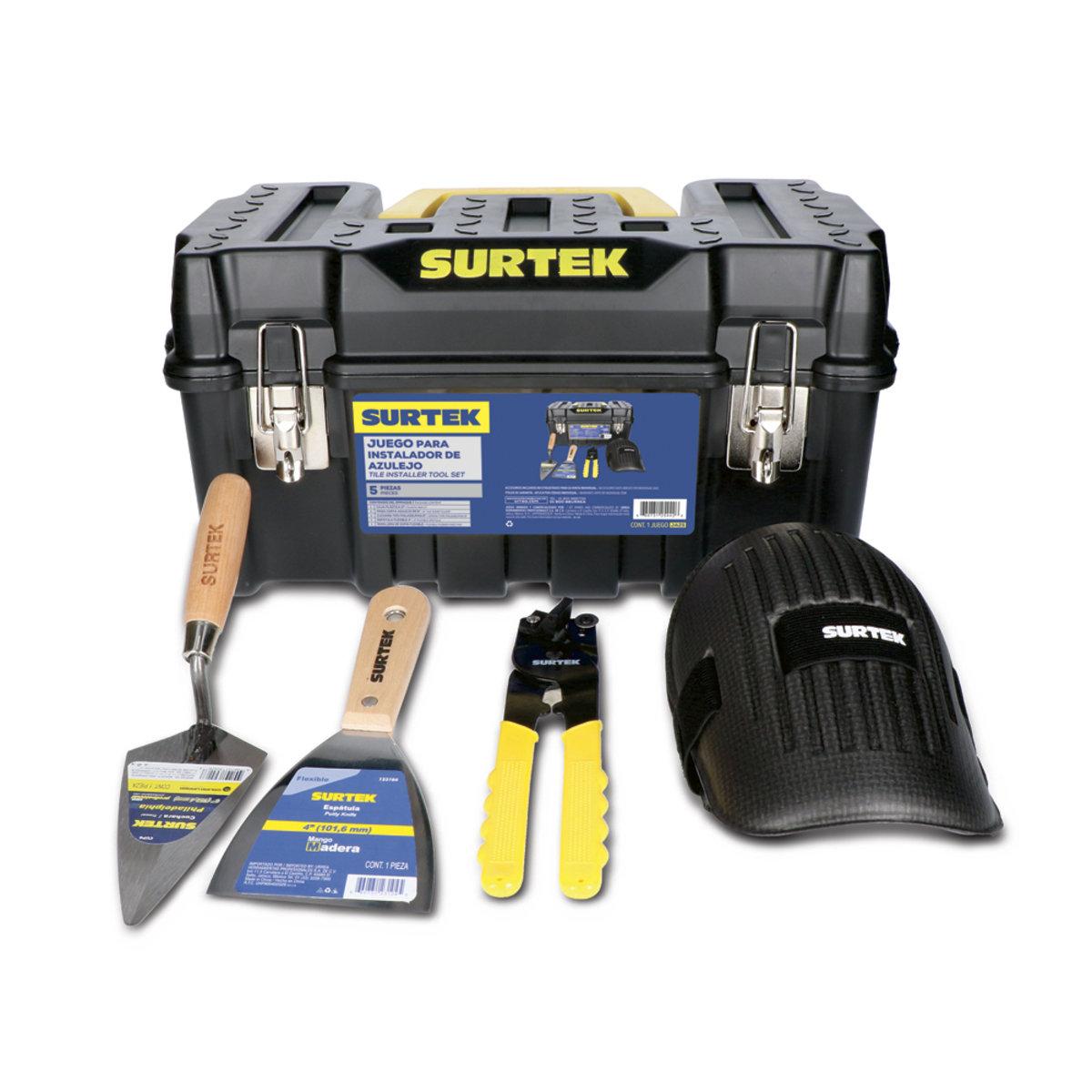 Juego herramientas para instalador de azulejo 5 pzas Surtek