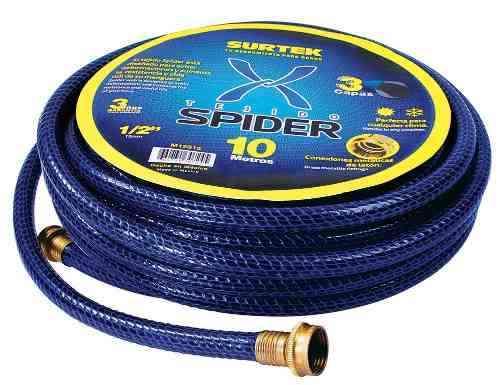Manguera Spider 1/2in Armada, Conector Metálico 15m Surtek