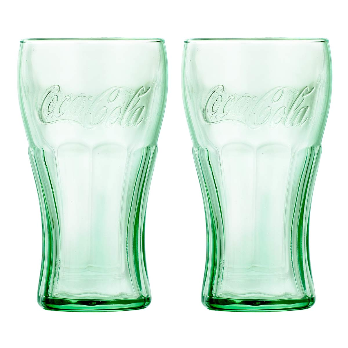 Juego Vasos Vidrio 2Pzas Coca Cola 495Ml Beber Cocina Libbey