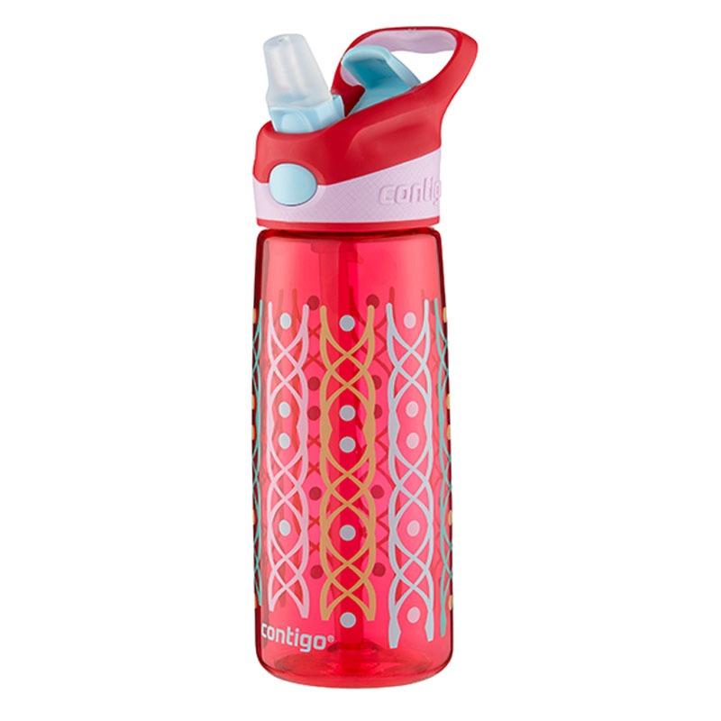 Botella Escolar Para Niños 20 Oz Puntos Rubi Rojo Contigo
