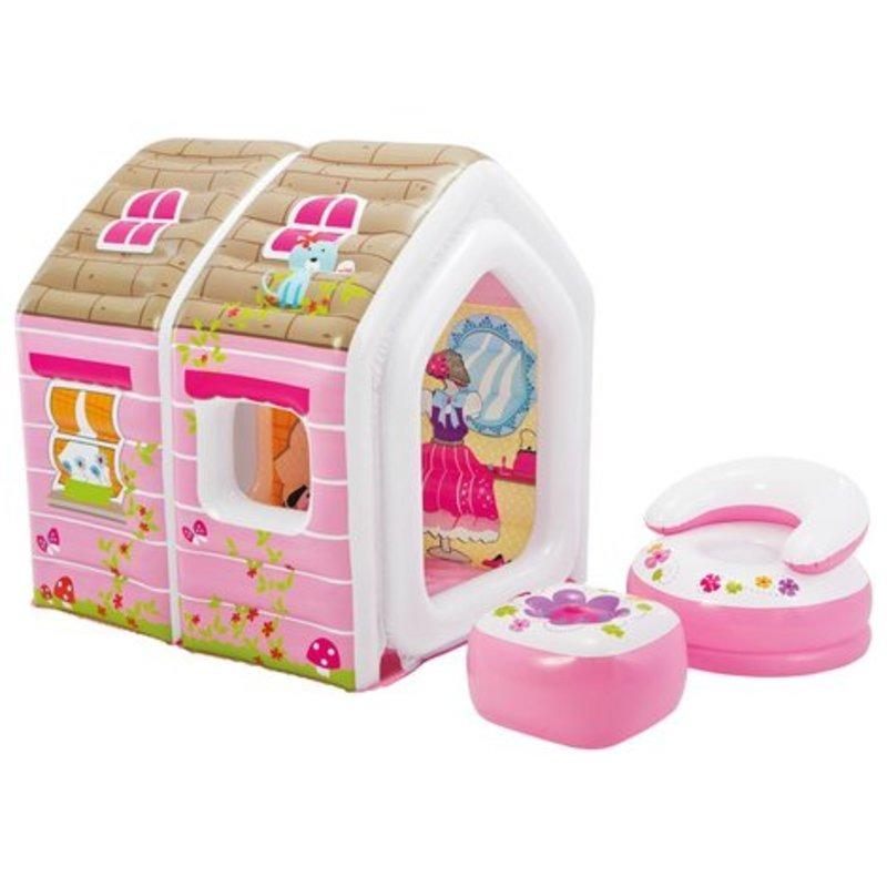 Casa Inflable Princesas Sillon Y Mesa 124x109x122 Cm Intex