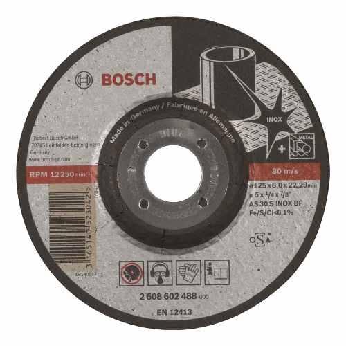 Disco Abrasivo Desbaste Exp Inox Cto Deprimido 5 X1/4  Bosch