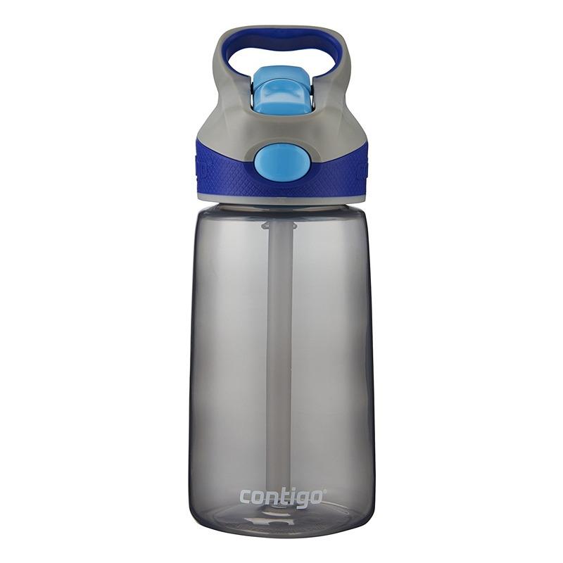 Botella Escolar Para Niños 14 Oz Autospout Gris Azul Contigo
